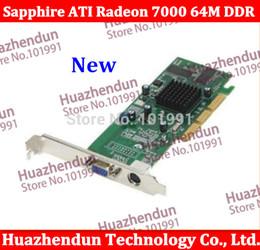 Gros-meilleur choix pour la carte vidéo AGP bas de gamme tout nouveau Sapphire ATI Radeon 7000 64M DDR VGA / TVO livraison gratuite ? partir de fabricateur