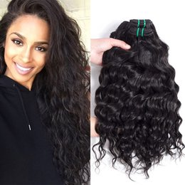 Wholesale Human Hair Extension Remy - Glary Brazilian Virgin Human Hair Weave Bundles Water Wave 3 4 5 pcs Brazillian Virgin Hair Weaves Big Curly Wavy Brazilian Hair Extensions