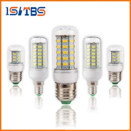 Wholesale Led Cool White E27 - SMD5730 E27 GU10 B22 E12 E14 G9 LED bulbs 7W 9W 12W 15W 18W 110V 220V 360 angle LED Bulb Led Corn light