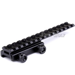 Wholesale Extended Rail - 2017 New 145mm length Scope Mount Base Flattop Riser Extended long Pour 20mm picatinny Weaver Rail