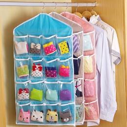 Wholesale Clothing Wall Hanger - 16 Pockets Clear Over Door Hanging Bag Shoe Rack Hanger Storage Tidy Organizer Home hang storage bag