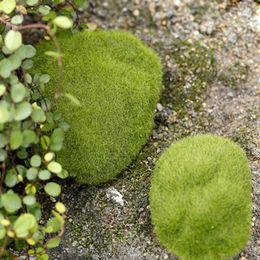 Piante artificiali di terrario online-Terrari Miniature da giardino Pianta fibra Artigianato Decor Artificiale Erba da giardino Muschio Stile pastorale