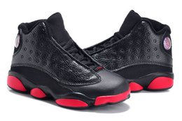 Wholesale Spring Birthday Gifts - 2017 Cheap Kids Air Retro 13 Shoes Children Basketball Shoes Boy Girl Retro 13s Black Sports Shoes Toddlers Athletic Shoes Birthday Gift