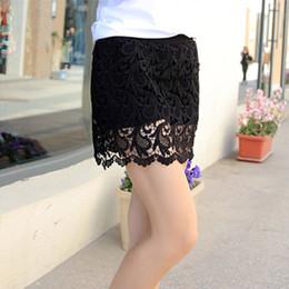 Wholesale Girls Pantskirts - New Womens Short Skirt Plus Size Lace Ladies PantSkirts Floral Girls Party Dress big Size Straight Skirt XL XXL XXXL XXXXL Culotte