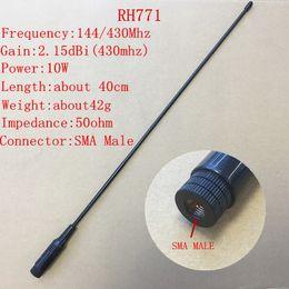 Wholesale Vhf Male Antenna - Wholesale- Honghuismart RH771 Sma Male UHF VHF dual band 144 430mhz antenna for YAESU Vertex standard Linton,Tonfa Walkie Talkie 2pcs lot
