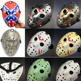 Wholesale jason face - New Freddy VS Jason Mask Party Masks Halloween For Killer Mask Yellow Erythema Jason Mask A0605