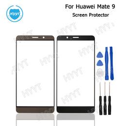 venta al por mayor teléfonos huawei mate Rebajas Al por mayor-Para Huawei Mate 9 Touch lente de cristal frontal de reemplazo cubierta de la lente Protector de pantalla para Huawei Mate 9 teléfono Touch lente