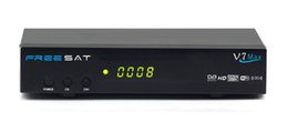 Wholesale Dvb S2 Usb Receiver - Hot selling Freesat V7 Max DVB-S2 Satellite TV Channels Receiver 1080P Digital Set Top Box Support Powervu USB WiFi Dongle
