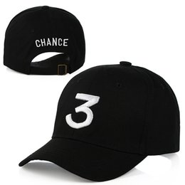 Wholesale Sun Summer Caps - Popular Singer Chance The Rapper 3 Chance Cap Black Letter Embroidery 3D Baseball Cap Hip Hop Streetwear Snapback Hats