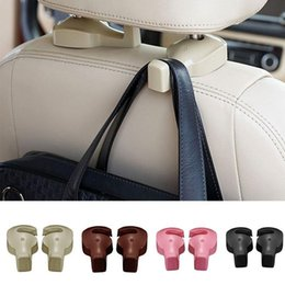Wholesale Car Coat Hangers - Many colors 2nd generation Universal Car Headrest Hook Seat Back Hanger Holder Vehicle Organizer for Handbags Purses Coats and Grocery Bags