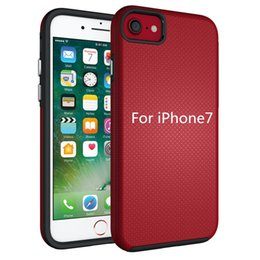 Wholesale Iphone Fashion Logo - Customized Logo PC+ TPU Phone Skin Cover for iphone7 Fashion Anti-skid back cover with five colors