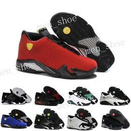 Wholesale Pink Shoot - 2017 air Cheap Retro 14 trainers basketball shoes last shot black toe thunder gs red suede Varsity Red Oxidized Sport sneaker boots