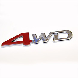 Adesivi divertenti del ford online-3D ABS Auto Chrome Sticker 4X4 SUV Divertente FAI DA TE 4WD Badge Emblema Sticker 4WD Decal Accessori Sport Adesivi Per Toyota NISSAN Ford VW