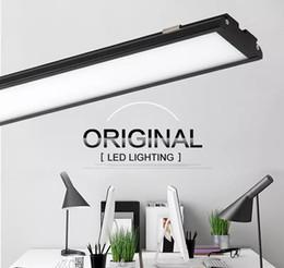 Wholesale Led Tube Ceiling Lights - Ultra thin LED Panel Light 4ft 1200mm 25W batten Tube shaped surface mounted led ceiling lamp High brightness 2000Lm Downlights AC 85-265V