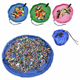 Wholesale Port Toys - 150cm 100cm 45cm Kids Toys Storage Bag Foldable Drawstring Beam Port Finishing Home Organizer Bulk Accessories portable storage bag