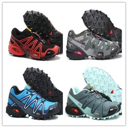 Wholesale Red Cross Cut - Christmas gift hot sale 2017 Zapatillas Speedcross 3 ATHLETIC Shoes for men new Walking Speed cross shoes size 40-46