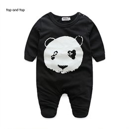 Wholesale Baby Clothes Panda - Autumn clothing boy clothes panda pattern baby Romper baby girl clothes bebe clothing set