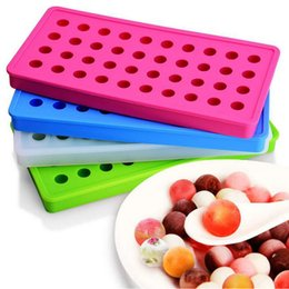 Wholesale Small Silicone Ball - 40 Grid DIY Creative Sphere Small Round And Square Ball Ice Brick Cube Maker Tray Mold Mould Bar Drink Whiskey Ice Tray ZA3161