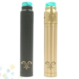 Wholesale Metal Drip Tip Style - Metal Moose Clasick Style Mod Kit Brass Material with Spring Loaded Firing Button Wide Bore Resin Drip Tip E Cig DHL Free