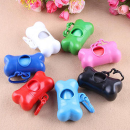 Wholesale Dog Pooper - Garbage Clean Dispenser Storage Box Pet Dog Bags Plastic Bone Type Degradable Pick Up Waste Poop Bag Doggy Pooper Scoopers Bag Trash ZA2899
