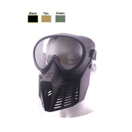 Wholesale Bee Mask - Outdoor Airsoft Paintball Shooting Face Protection Gear Full Face Bee Style Tactical PC Lens Paintball Mask