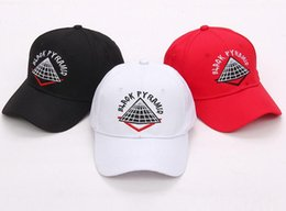 Wholesale High Quality Baseball Caps - Wholesale- High quality New style adjustable men Hats hip hop Unisex pyramid Baseball Caps Casual black white red diamond hat