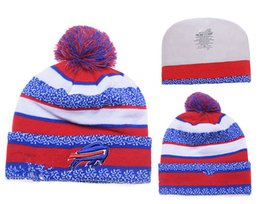 Wholesale Casual Fashion Style For Women - new style football Bills Buffalo beanies Winter High Quality Beanie For Men Women Skull Caps Skullies Knit Cotton Hats Free Shipping
