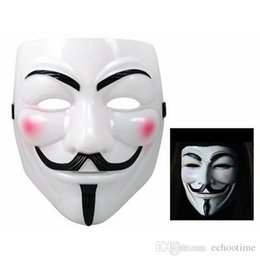 Wholesale Vendetta Mask White - 1000Pcs V Mask Masquerade Masks For Vendetta Anonymous Valentine Ball Party Decoration Full Face Halloween Super Scary Party Mask