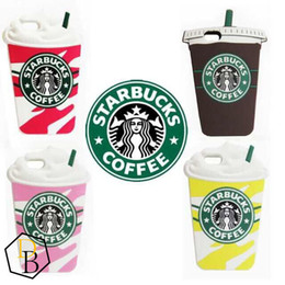 Wholesale Silicone Coffee Cup Covers - 3D Starbucks Coffee Cup Simulation Soft Gel Rubber Silicone Case Phone Cover For Galaxy S6 S5 Note4 iPhone 6 Plus 5S case