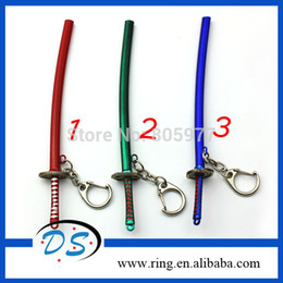 Wholesale One Piece Anime Keychain - New Fashion Japanese Anime One Piece Zoro Sword Weapon Models Keychain For Christmas Gifts Free Shipping