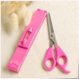 Al por mayor-Hot 1 Set Bangs tijeras de pelo Tijeras de entresacar cortan las herramientas del peluquero Tijeras de peluquería Clipper Set Caliper para niñas mujeres desde fabricantes