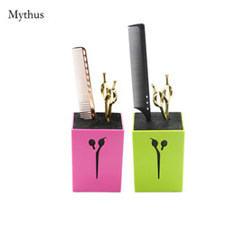 Wholesale Hair Accessories Boxes - Professional Hairdressing Hair Comb Clip Scissors Holder Barbers Haircut Styling Tools Case Salon Accessories Storage Box Non-slip Bottom