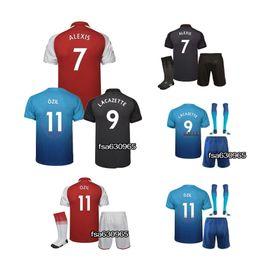 Wholesale Sport Football Kits - 2017 New Lacazette Soccer Jersey ALEXIS GIROUD OZIL WALCOTT XHAKA jersey 17 18 sports football kit