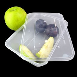 Wholesale Disposable Plastic Container - 750ml Disposable food Box Food Storage Transparent Plastic Heat resistant Container Box Salad Vegetables Fresh Keeping