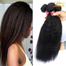 Usine 7A Indien Humain Yaki Cheveux Bundles Indien Vierge Humain Crépus Droite Extension D'armure De Cheveux Non Transformés Indien Yaki Cheveux Bundles ? partir de fabricateur