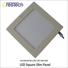 panel blanco fresco llevado Rebajas LED cocina oficina hogar luz de interior 15W 18W 23W blanco cálido Cool White Super delgada Led luces de panel cuadrado redondo
