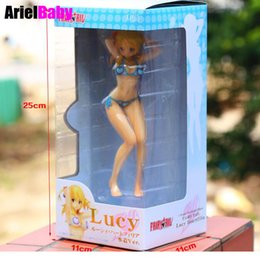 "Wholesale Anime Figure Fairy Tail - New Fairy Tail Lucy Heartfilia Swimsuit Sexy Bikini Action Figure Toy Collection Model Doll Adults Birthday Gift 7"" Brinquedos"