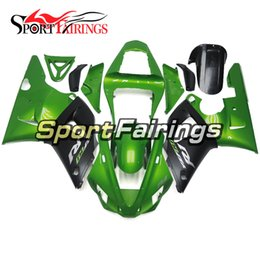 Wholesale Green R1 Fairings - Injection ABS Fairings For Yamaha YZF1000 R1 YZF-R1 00 01 2000 2001 Plastics Motorcycle Fairing Kit Gloss Green Black Spoiler