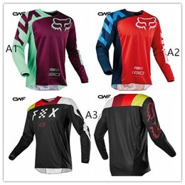 Wholesale Motocross Shirts - 2018 New Brand Designs Motocross Jersey MTB DH MX Off Road Downhill Racing T-shirt Motorcycle Jersey Quick Dry Shirt Size XS-5XL