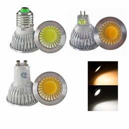 Wholesale Cree 9w E27 Bulb Dimmable - Dimmable CREE E14 GU10 MR16 E27 cob Led Bulb Light 9W 12W 15W Led Spot Bulbs down lights Lamp AC 110-240V 12V