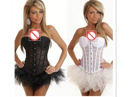 Wholesale Translucent Tights - European and American Palace Corset Tight translucent Body Shapers Black And White Lace Breathable Shaper Body