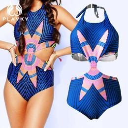 Wholesale Onepiece Swimsuit - 2017 Female Bodysuit Cut Out Trikini Monokini Sexy Onepiece Ladies Whole Plus Size Swimwear Women One Piece High Waist Swimsuit
