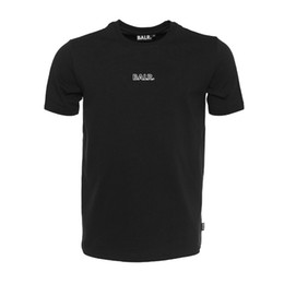 Vestuário marca euro on-line-2017 novo balr Homens T shirt Camiseta de Alta qualidade Homme Algodão Roupas de Marca BALRED Tops Camiseta Euro Tamanho T-shirt Carta de Impressão de Fitness