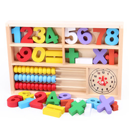 Wholesale Digital Learning Toys - Wooden box frame digital learning arithmetic calculation of children's wooden toys early
