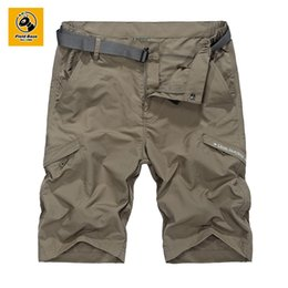 Wholesale Fields Fashion - Wholesale- Field Base Men's Summer Casual Shorts Knee Length Shorts Homme Fashion Beach Shorts Joggers Trousers 4XL 6615