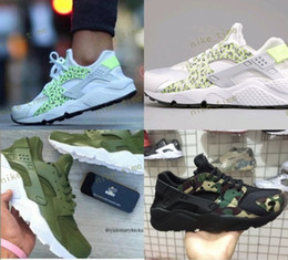 Wholesale Camouflage Tops Women - 2017 Huarache 1 I Running Shoes For Men Women Top Quality Huaraches Premium Camouflage Huaraches Sneakers Size US 5.5-11 Air