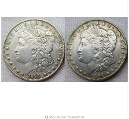 Wholesale Magic Draw - Morgan 1893 1894 Two Face Coin interesting magic Coins Gifts home Accessories Silver Coins