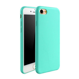 Wholesale iphone 5s transparent color cases - High Qulity TPU Phone Case Matte Solid Color Cover for Iphone7 7 plus 6 6s 6plus Frosted Candy Color Soft Phone Back Cover For 5 5s 5se