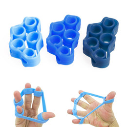 Wholesale Wholesale Stretchers - High quality Fitness Equipments yoga finger band Resistance Bands hand Stretcher Exerciser Grip Strength Wrist Exercise Finger Trainer