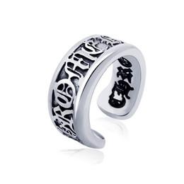 Wholesale Open Metal Ring - Men's vintage roman alphabet stainless steel open rings designer titanium steel metal mixed rings jewelry accessories